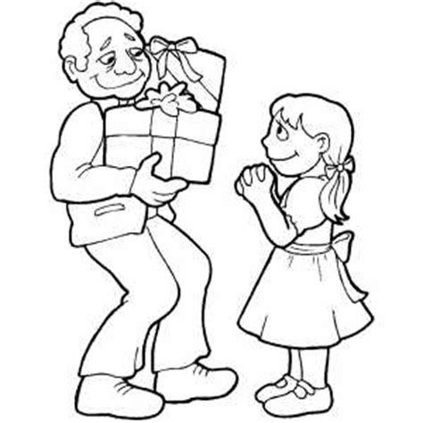 Gift Giving Coloring Page Giving Coloring Pages