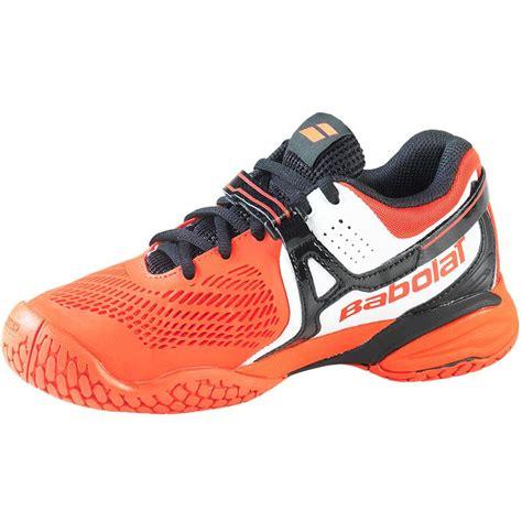 babolat propulse 4 junior tennis shoe orange