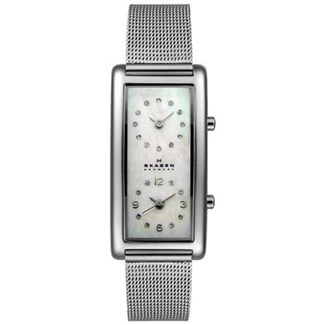 20 Square Feet To Meters by Skagen Women S 20sssmp Steel Collection Dual Time Zone