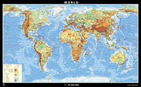 physical map of world and supergiant maps world klettmaps