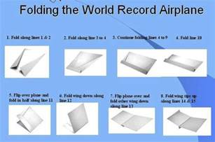 How To Make A Paper World - how to fold the record setting glider style paper airplane
