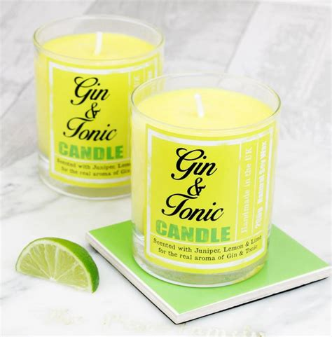 gin and tonic scented candle gift by hearth heritage
