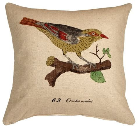 pillow decor bird on branch 20 x 20 throw pillow
