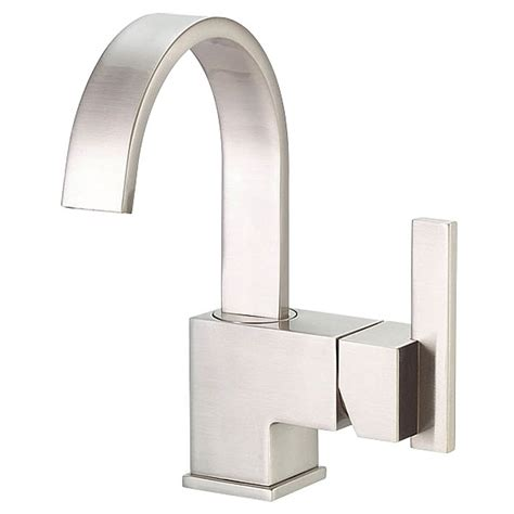 Modern Bathroom Faucets And Fixtures Danze 174 Sirius Single Handle Lavatory Faucet Brushed