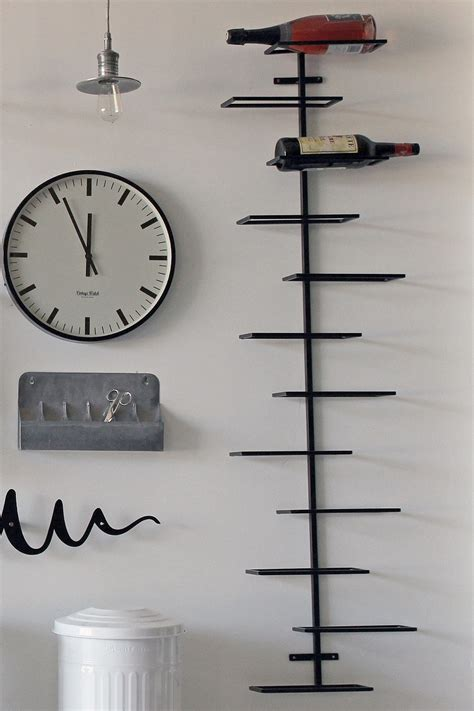 marvellous wall mounted wine racks metal decorations