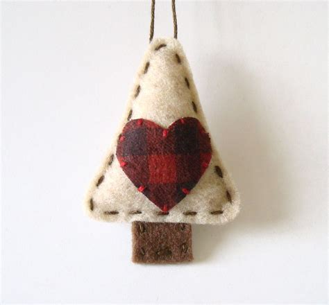 christmas home decor crafts primitive christmas decorations felt ornament by