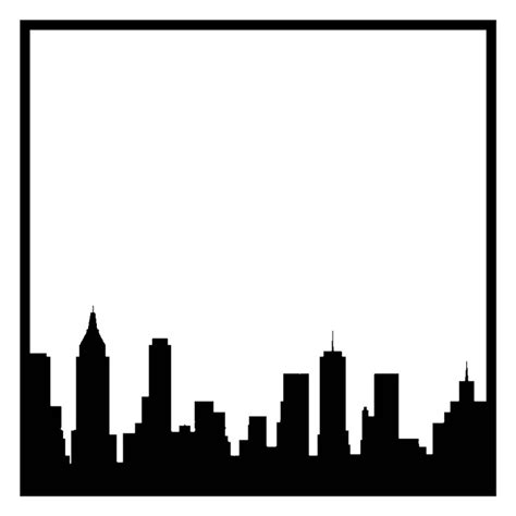 cny template new york city skyline outline cliparts co