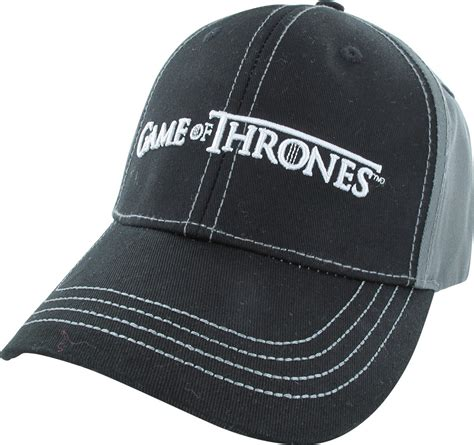 Buckle Hat of thrones two tone win or die buckle hat