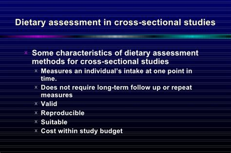 characteristics of cross sectional study 3 cross sectional study