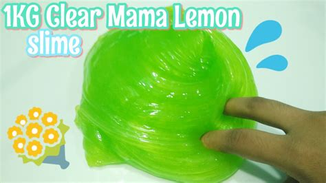 Membuat Slime Jelly | 1kg clear mama lemon slime jelly clear slime super cute