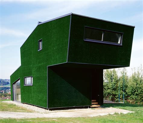 grass covered house in austria really modern house