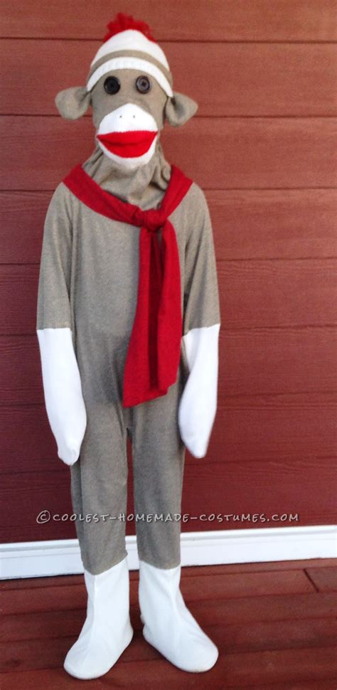 diy sock monkey easy coolest sock monkey costume