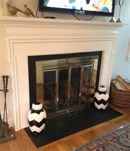 fireplace hearth facelift paint tile w