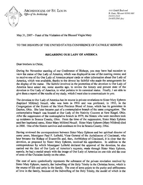 Confirmation Candidate Letter To The Bishop Our Of America Newsletter