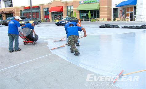 parking structure restoration vehicular coating system