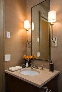Wallpaper For Small Powder Room Powder Room With Tan Grasscloth Design Ideas