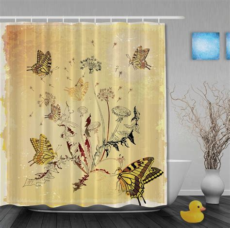 all around shower curtain custom wedding decorations shower curtains butterflies
