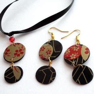 Japanese Handmade Jewelry - japanese jewelry set handmade of recycled plastic sushi