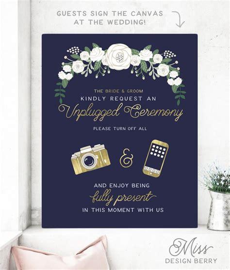 Wedding Ceremony No by No Photos Wedding Sign Wedding Ideas