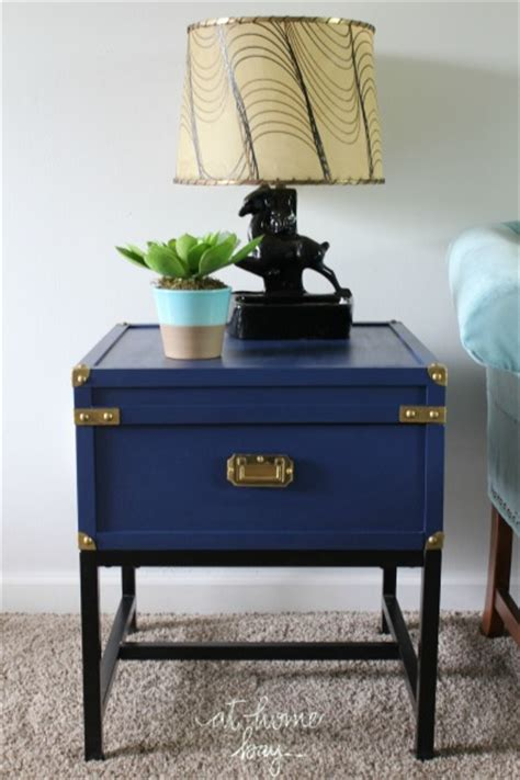 navy blue end table royal blue caign end table