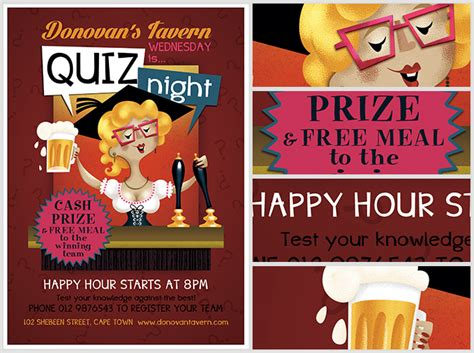 themes for quiz nights pub quiz flyer template flyerheroes