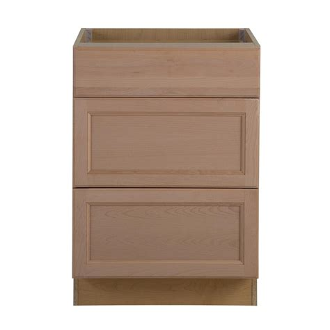 3 drawer base cabinet unfinished hton bay assembled 24 in x 34 5 in x 24 63 in