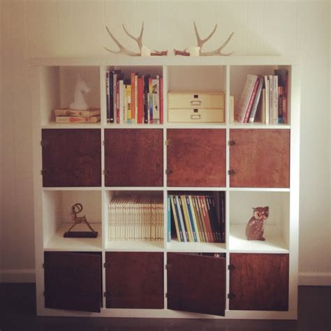 modern reading room with gorgeous ikea bookshelf