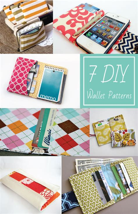 Handmade Sewing Projects - 7 diy wallet patterns everythingetsy