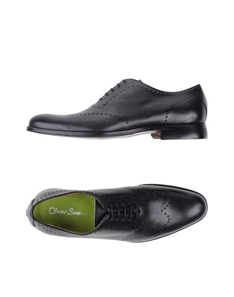 oliver sweeney slippers oliver sweeney lace up shoes in black for lyst