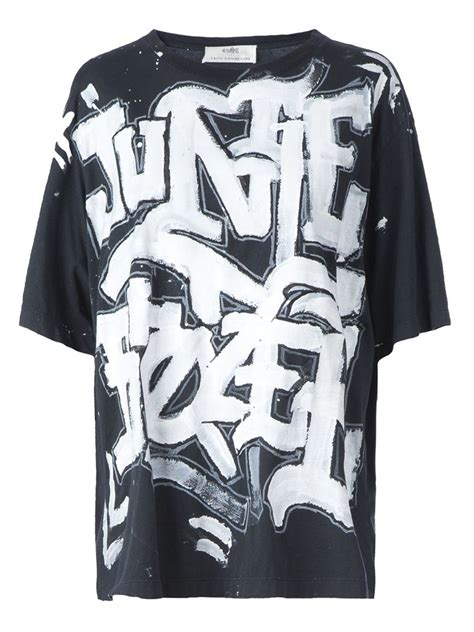 Black Graffiti Sweater 41983 lyst faith connexion graffiti print t shirt in black