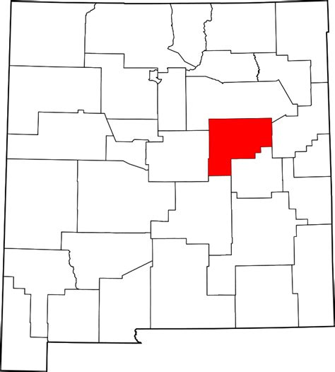 Guadalupe County Property Records File Map Of New Mexico Highlighting Guadalupe County Svg