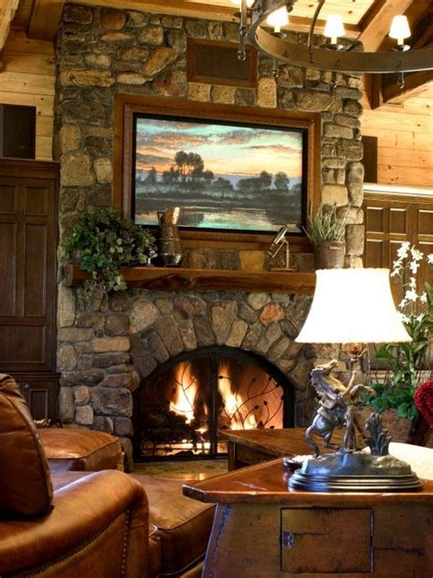 6 bedrooms with fireplaces we would love to wake up to great stone fireplace with built in large screen tv above