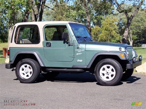 1999 Jeep Automatic Transmission 1999 Jeep Wrangler Sport 4x4 In Medium Fern Green