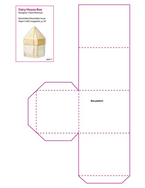 A Paper Box Template - 6 best images of printable paper box pattern butterfly