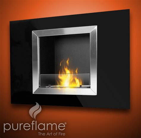 bio fuel fireplace 32 quot calida wall mounted bio fuel fireplace