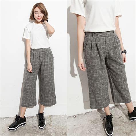 Celana Panjang Bahan Wanita Gucci Kulot jual beli celana kulot bahan belt cullotes trousers celana fashion wanita korea pakaian