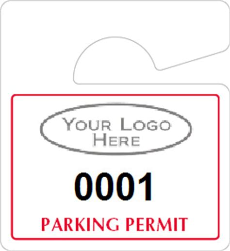 hanging parking pass template mini parking permit mirror tags