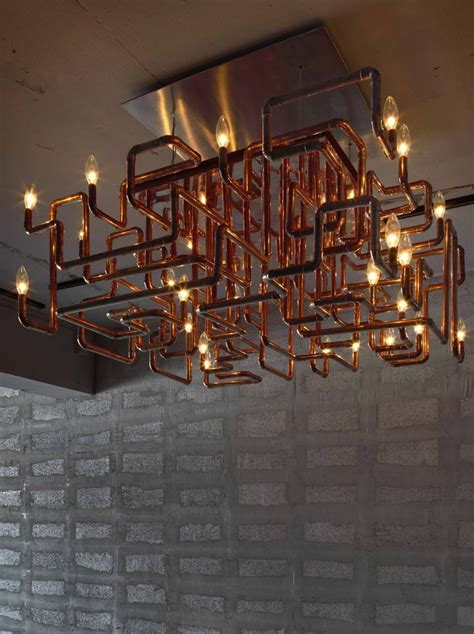 Pipe Chandelier Diy Copper Pipe Chandler A Lovely Diy Project For The Adventurous Via Http Www Architecturelover