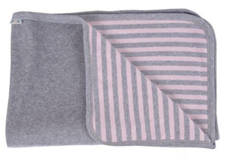 Decke Groß Baumwolle by Popolini Baby Decke Rosa Grau 90x70 Bio Baumwolle
