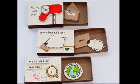 Can You Mail A Gift Card In A Regular Envelope - surprise your loved ones with these customised matchbox cards