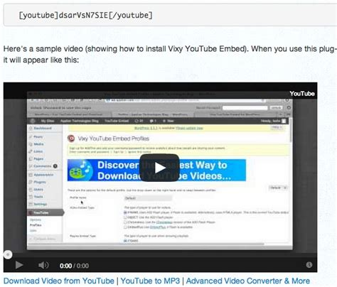 download youtube embedded videos 8 useful video plugins for wordpress