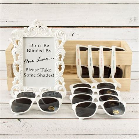 Sunglass Wedding Favors by Wedding Favors Personalized Sunglasses A Wedding