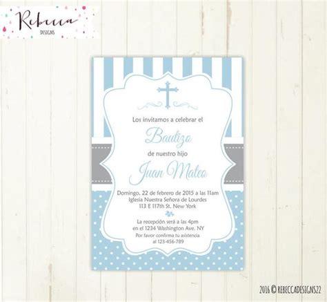 invitaciones de bautizo para nino invitacion bautizo ni 241 o celeste imprimible baptism invitation