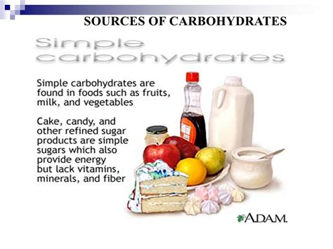 carbohydrates sources nutrients ppt