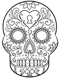 Day Of The Dead Mask Template by Day Of The Dead Mask Coloring Pages Coloring Pages