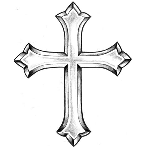 black and white cross tattoo images of religious crosses clipart best