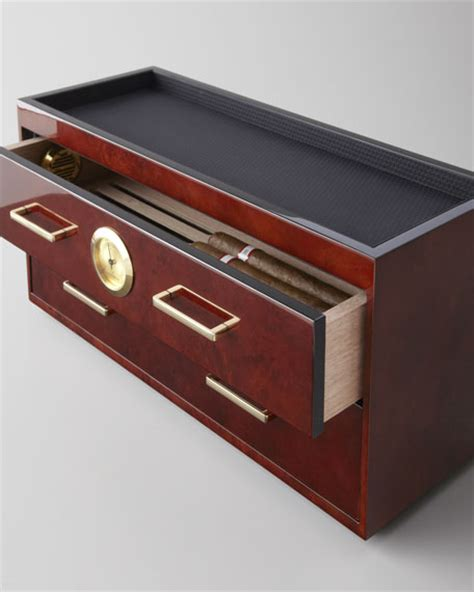 Humidor With Drawers wolf designs humidor with two drawers