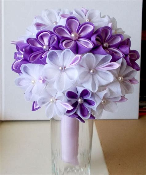 Wedding Bouquet Kanzashi Tutorial 17 best images about ramo de novia kanzashi on
