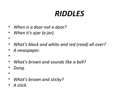Riddle For A Door by Types Of Verbal Humor