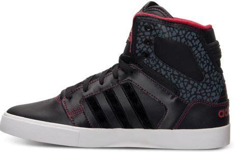 adidas hi top casual sneakers in black for black collegiate lyst